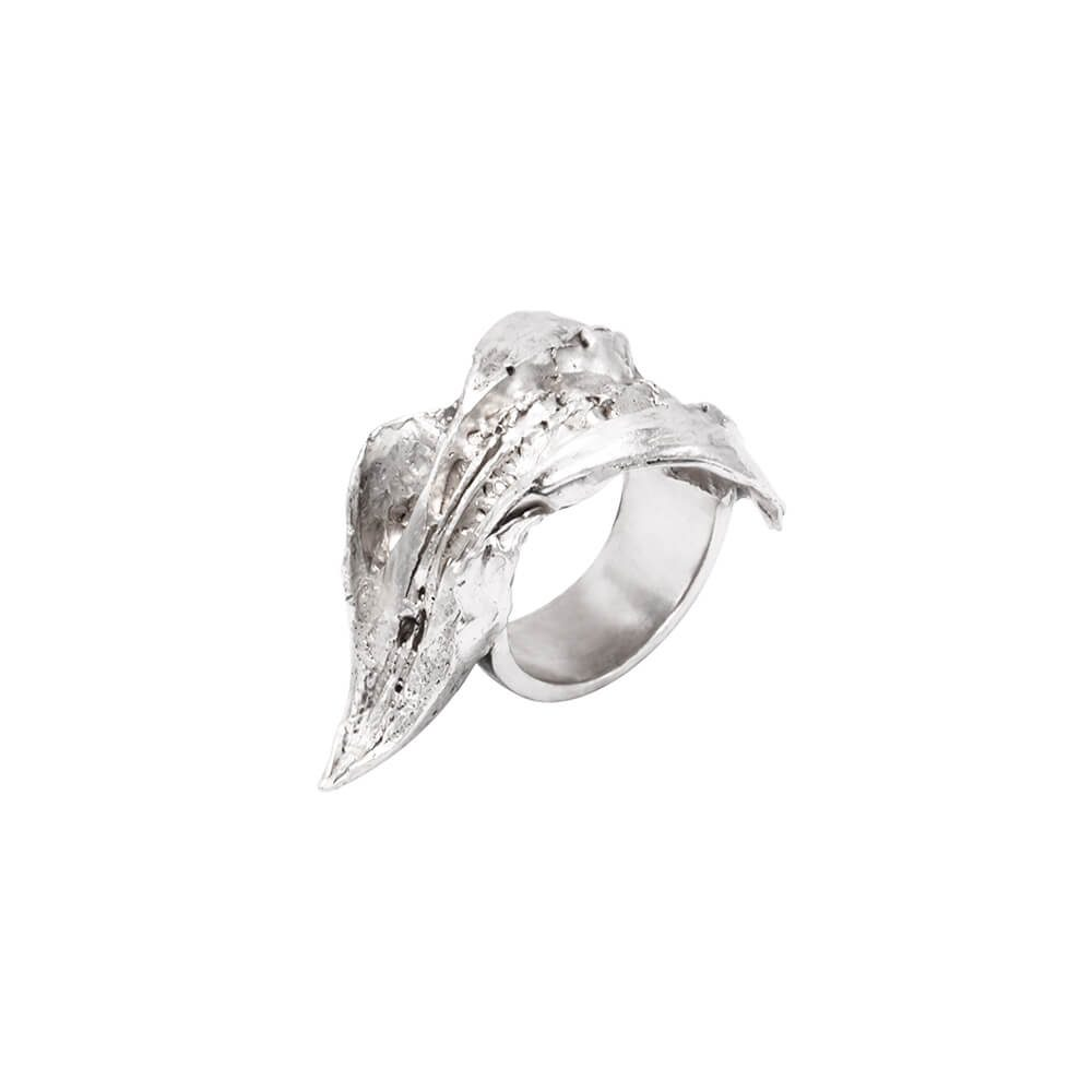 Eagle's beak sterling silver statement ring, handmade