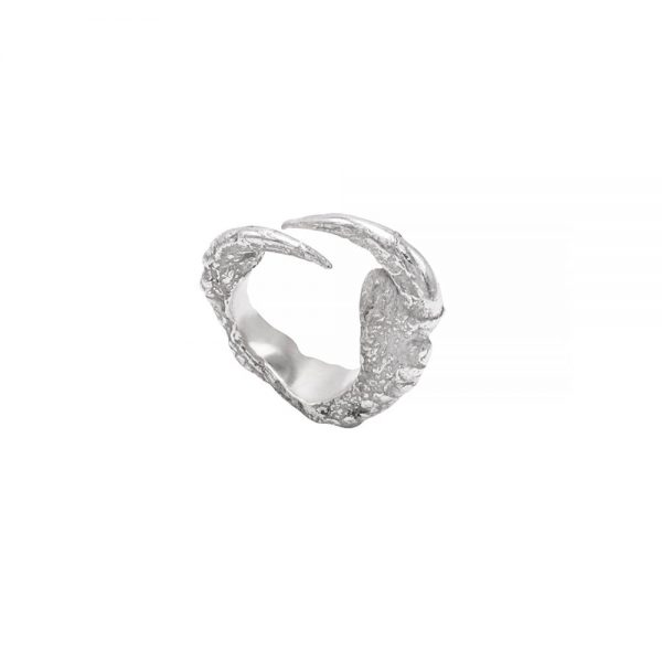 Claws statement ring, made by hand in 925 silver, unique and impressive design