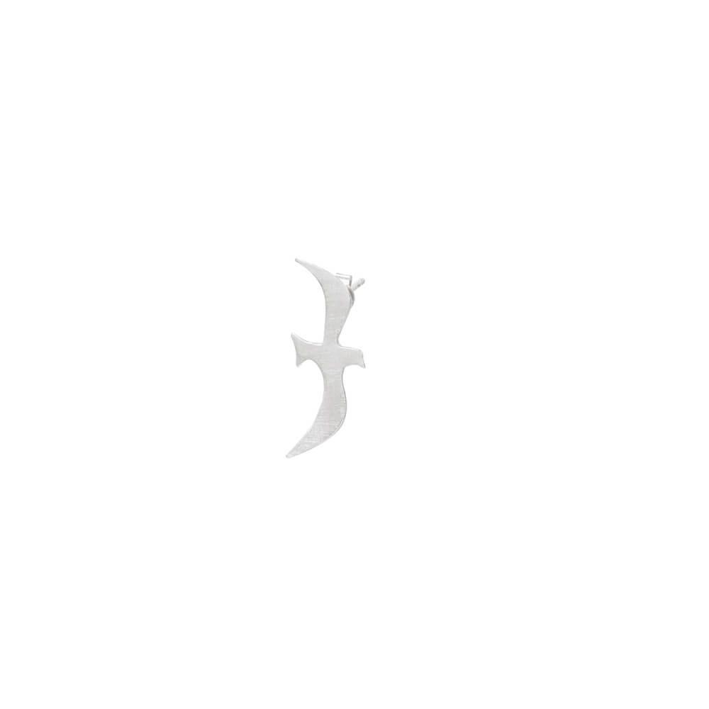 Sterling silver earring in minimalistic design