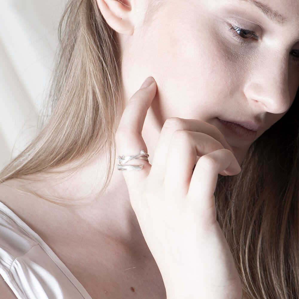 Statement twig rings with meaningful stories