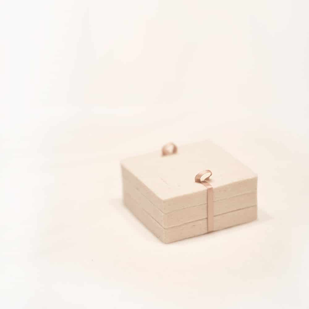 Closed handmade natural box