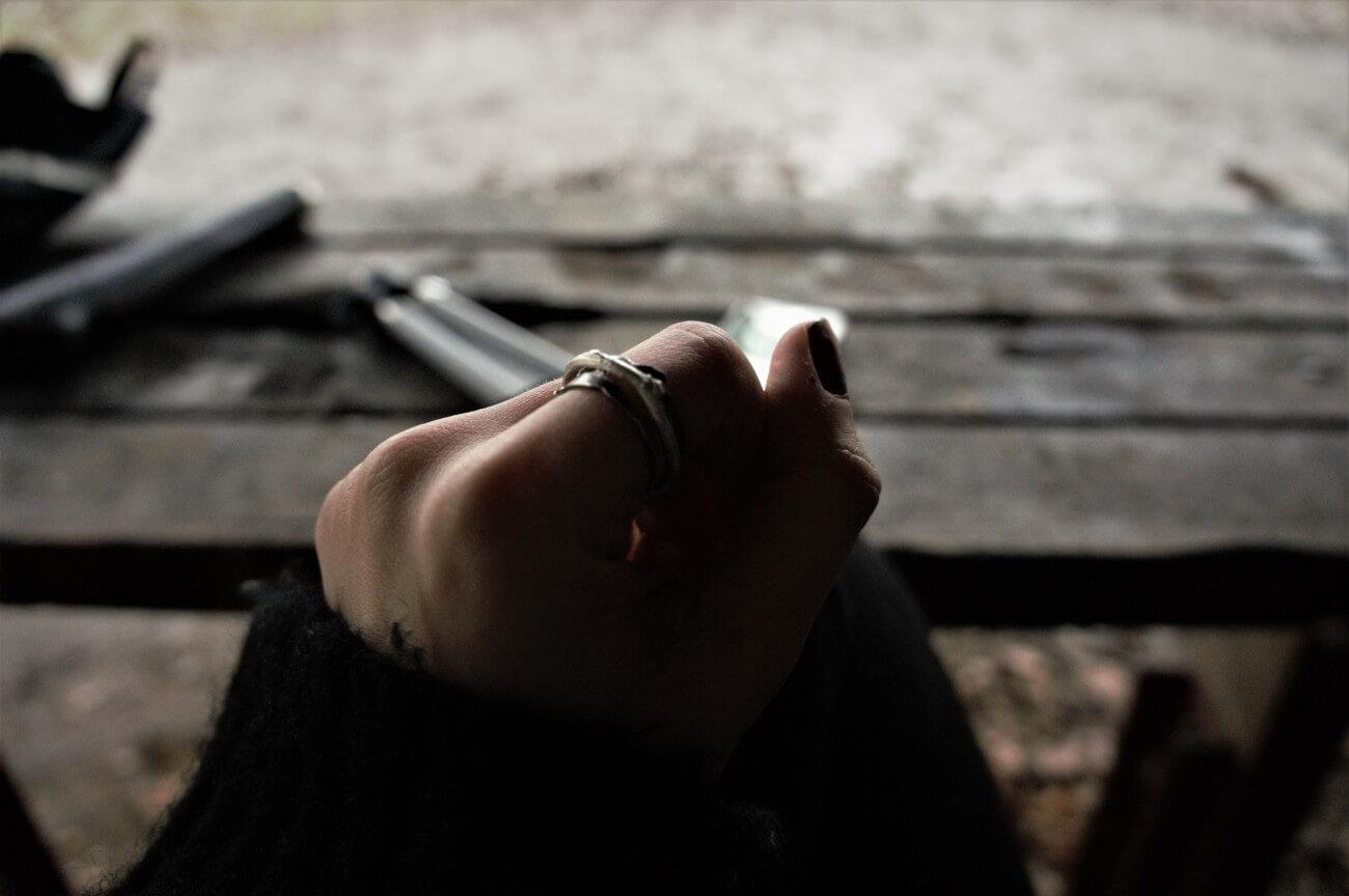 Wearing Twig black ring