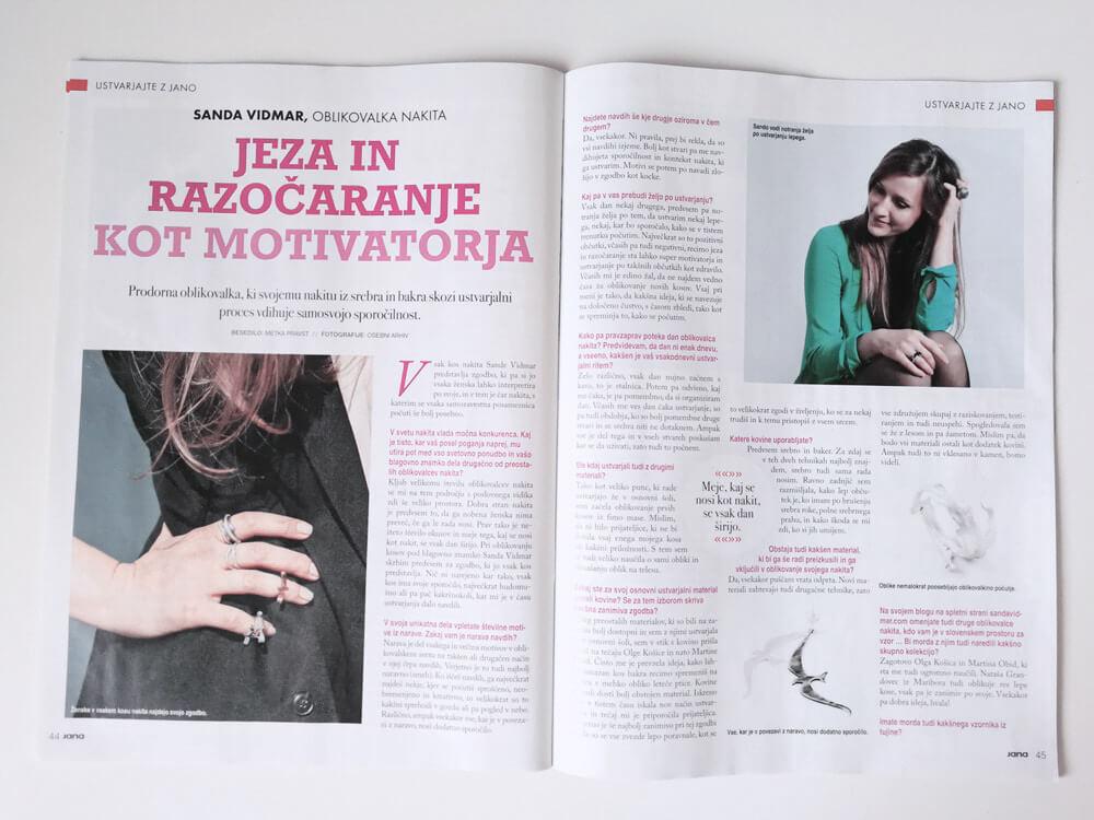 Intervju s Sando Vidmar v reviji Jana