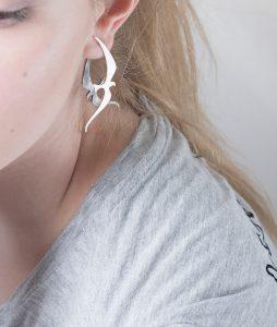 Couple silver earrings