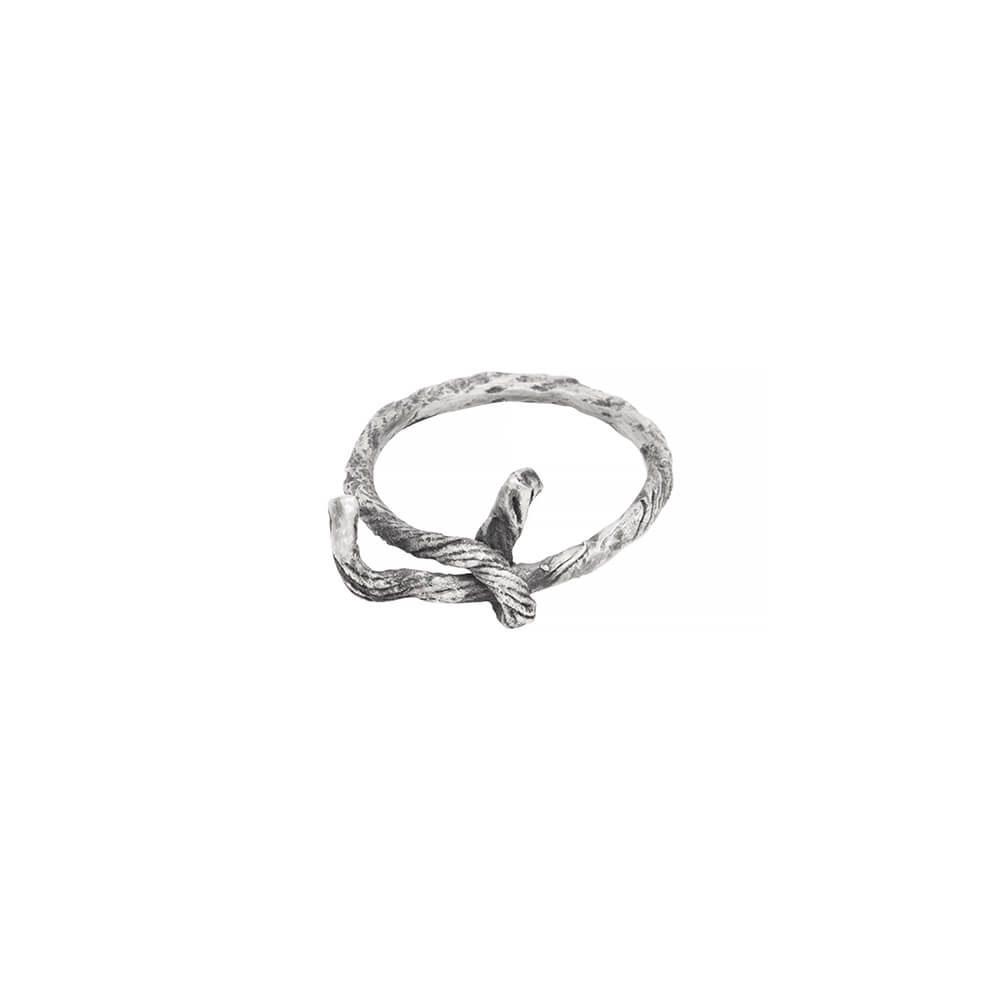 Rope designed sterling silver ring, handmade