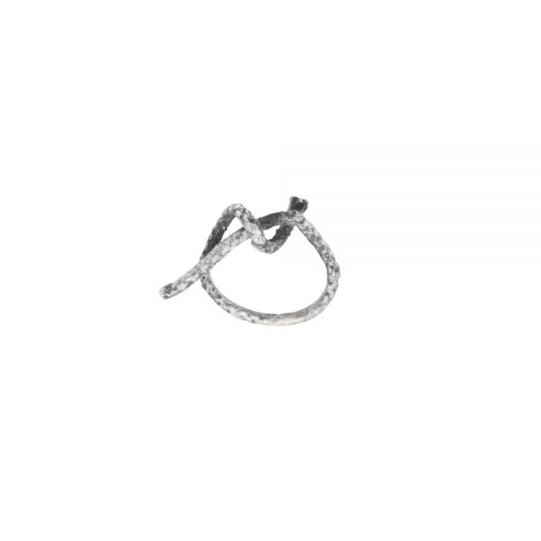 Knot in sterling silver, unique ring