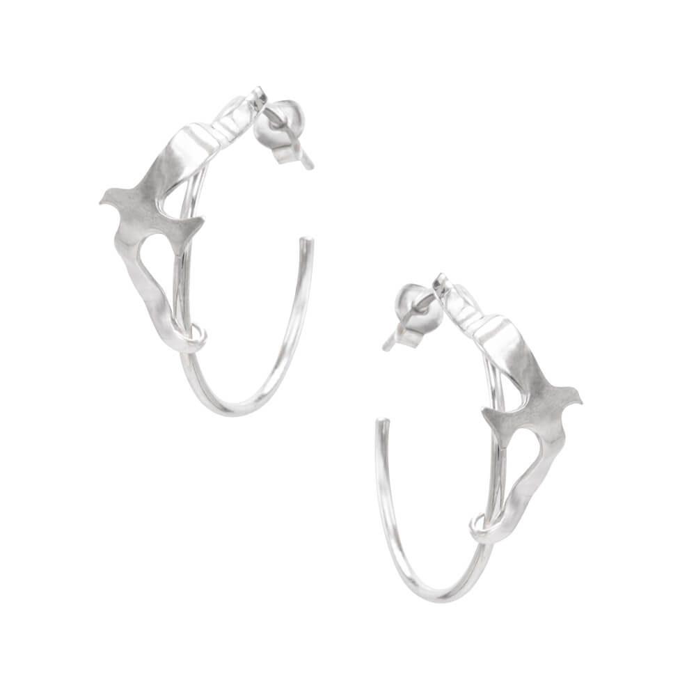 Handmade pair of hoop earrings
