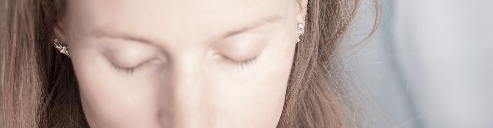 Mnimalistic jewelry, earrings set Faith