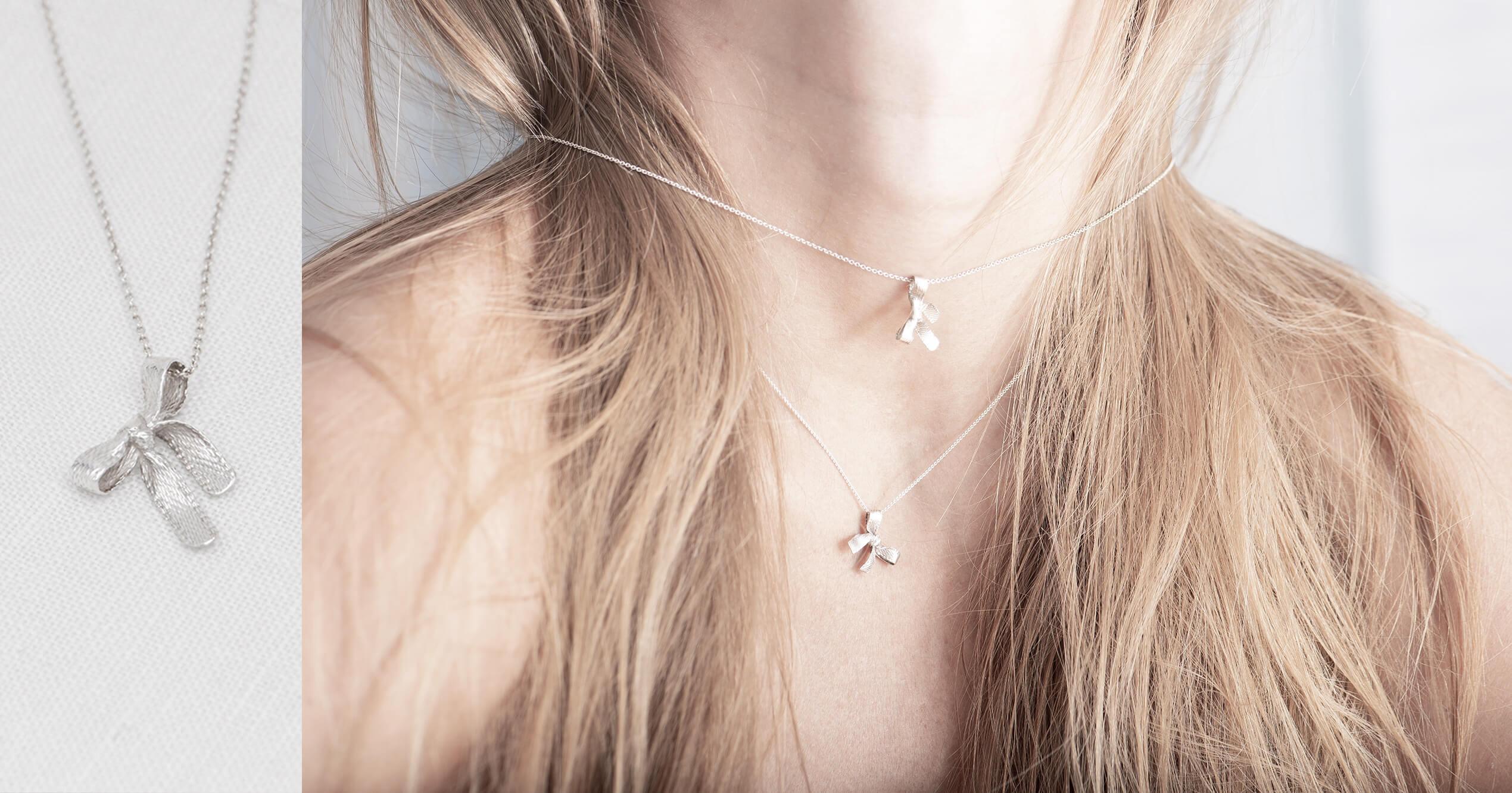Bows necklace set